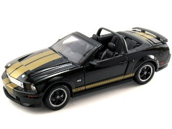 SHELBY GTH CONVERTIBLE BLK/GOLD 1/18 (105)