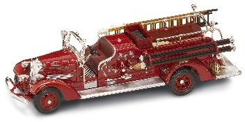 AHRENS FOX VC FIRE TRUCK RED 1938 1/43